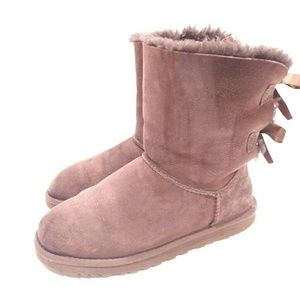 Ugg Women's Boots Bailey Bow Chocolate Size 6